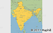 Savanna Style Simple Map of India
