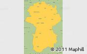 Savanna Style Simple Map of Coimbatore
