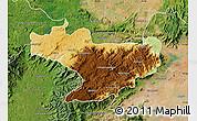 Physical Map of Nilgiris, satellite outside