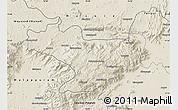 Shaded Relief Map of Nilgiris