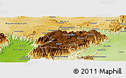 Physical Panoramic Map of Nilgiris