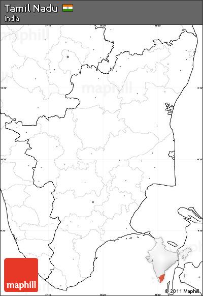 Tamil Nadu Political Map Outline Images - Political map outline