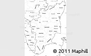 Blank Simple Map of Tamil Nadu