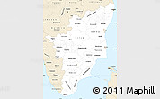 Classic Style Simple Map of Tamil Nadu
