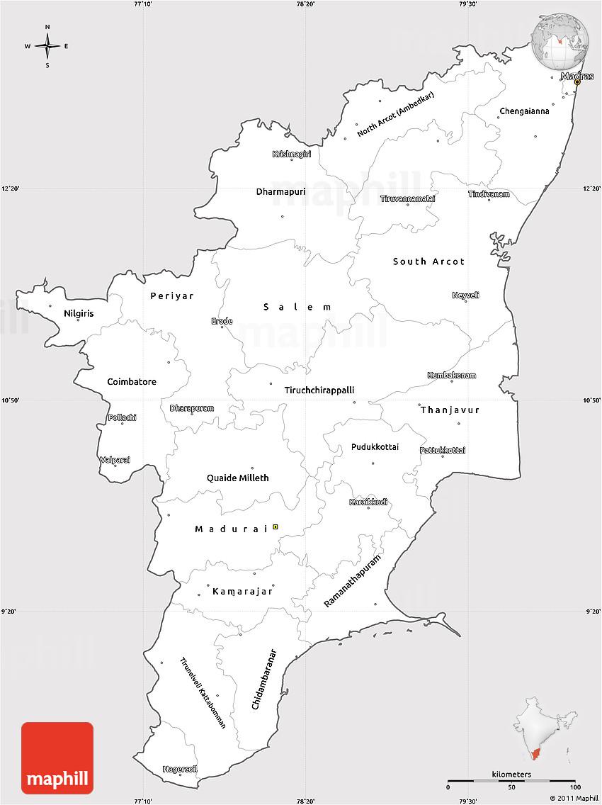 tamil nadu map outline