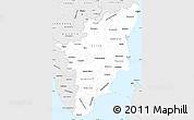 Silver Style Simple Map of Tamil Nadu