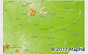 Physical 3D Map of Tiruchchirappalli