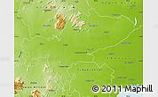 Physical Map of Tiruchchirappalli