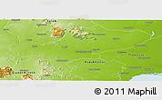 Physical Panoramic Map of Tiruchchirappalli