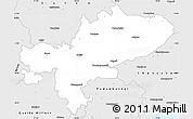 Silver Style Simple Map of Tiruchchirappalli