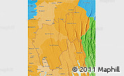 Political Shades 3D Map of Tripura
