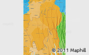 Political Shades Map of Tripura