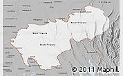 Gray Panoramic Map of Tripura