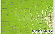 Physical Panoramic Map of Tripura