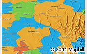 Political Panoramic Map of Tripura