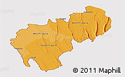 Political Shades Panoramic Map of Tripura, cropped outside
