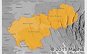 Political Shades Panoramic Map of Tripura, desaturated