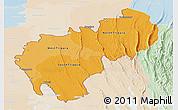 Political Shades Panoramic Map of Tripura, lighten