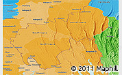 Political Shades Panoramic Map of Tripura