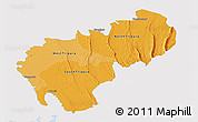 Political Shades Panoramic Map of Tripura, single color outside