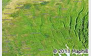 Satellite Panoramic Map of Tripura