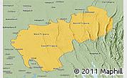 Savanna Style Panoramic Map of Tripura