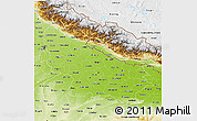 Physical 3D Map of Uttar Pradesh