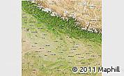 Satellite 3D Map of Uttar Pradesh