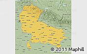Savanna Style 3D Map of Uttar Pradesh