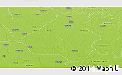 Physical Panoramic Map of Bareilly
