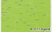 Physical 3D Map of Budaun