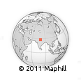 Outline Map of Budaun