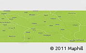 Physical Panoramic Map of Budaun