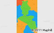 Political Simple Map of Dehra Dun