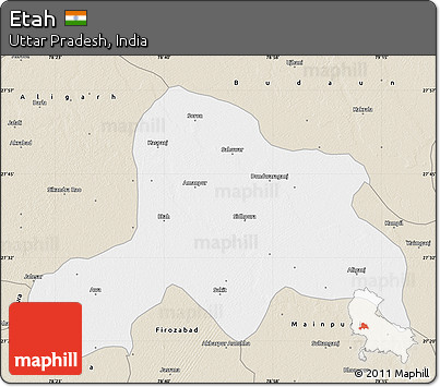 Free Classic Style Map of Etah