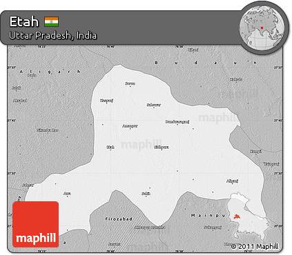 Free Gray Map of Etah