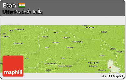 Free Physical Panoramic Map of Etah
