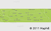Physical Panoramic Map of Ghaziabad