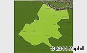 Physical 3D Map of Gonda, darken