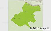 Physical 3D Map of Gonda, lighten