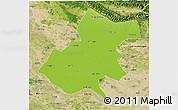 Physical 3D Map of Gonda, satellite outside
