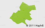 Physical 3D Map of Gonda, single color outside