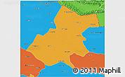 Political 3D Map of Gonda