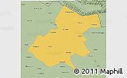 Savanna Style 3D Map of Gonda