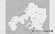 Gray 3D Map of Jhansi