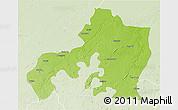 Physical 3D Map of Jhansi, lighten