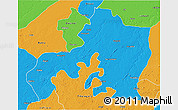 Political 3D Map of Jhansi