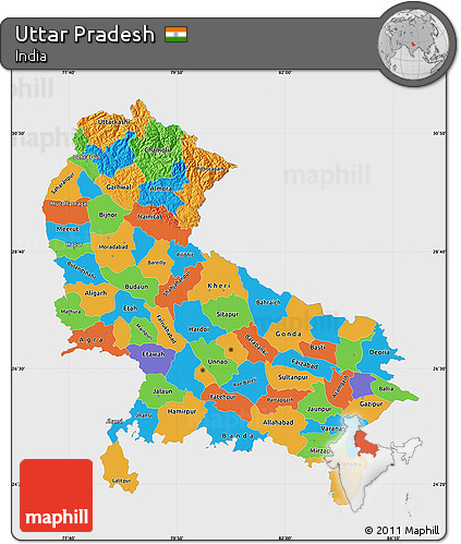 Free Political Map of Uttar Pradesh, single color outside on political map kerala, atlas of india, geography of india, political map government, political world map, map showing india, major rivers of india, north india, varanasi india, northern region of india, nashik india, maps of only india, maps for india, world map india, jharkhand india, provinces of india, leader of india, states of india, bangalore india, where's india,