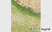 Satellite Map of Uttar Pradesh