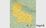 Savanna Style Map of Uttar Pradesh
